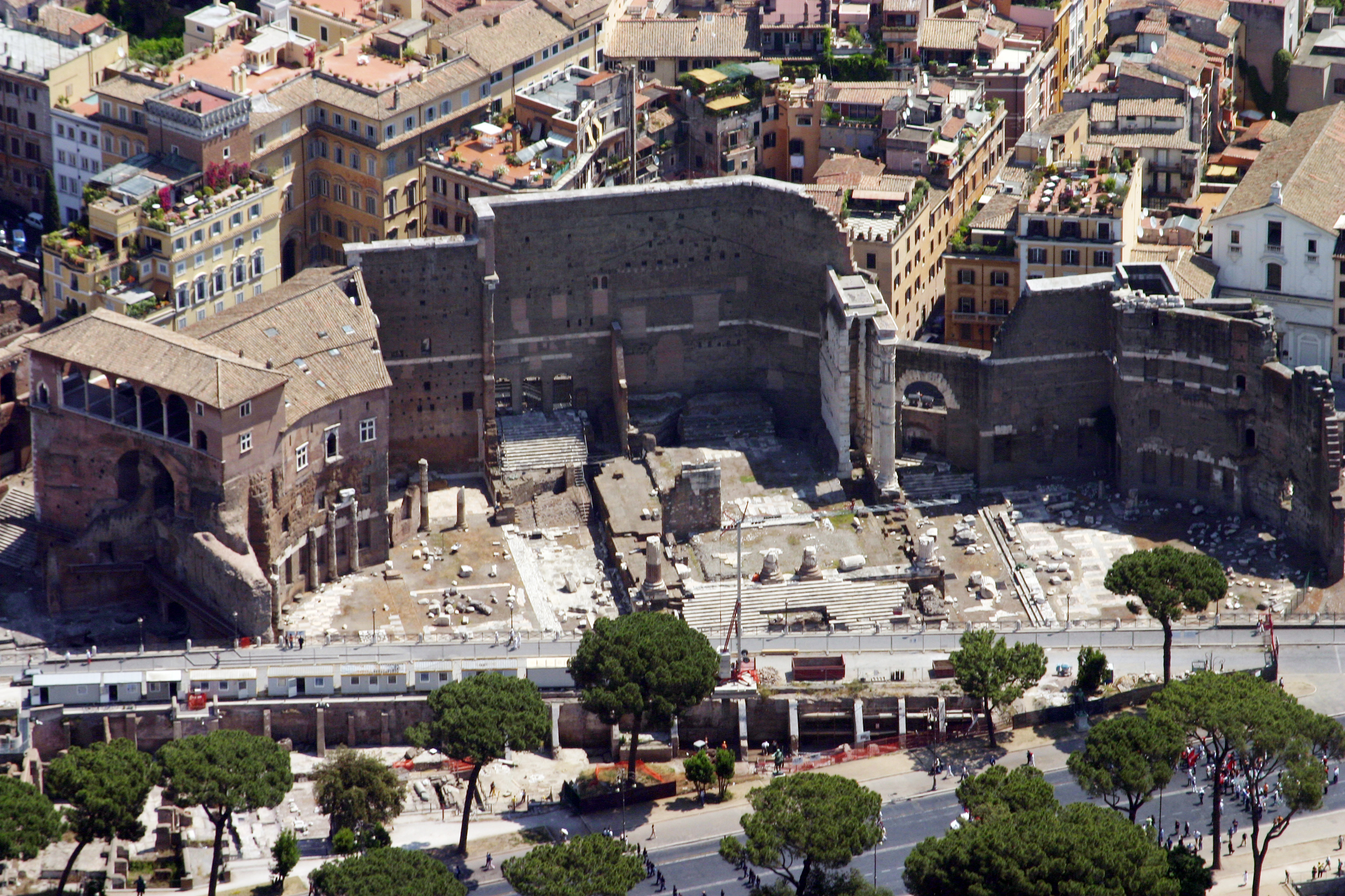 The Forum of Augustus, with the imposing wall towards the Suburra