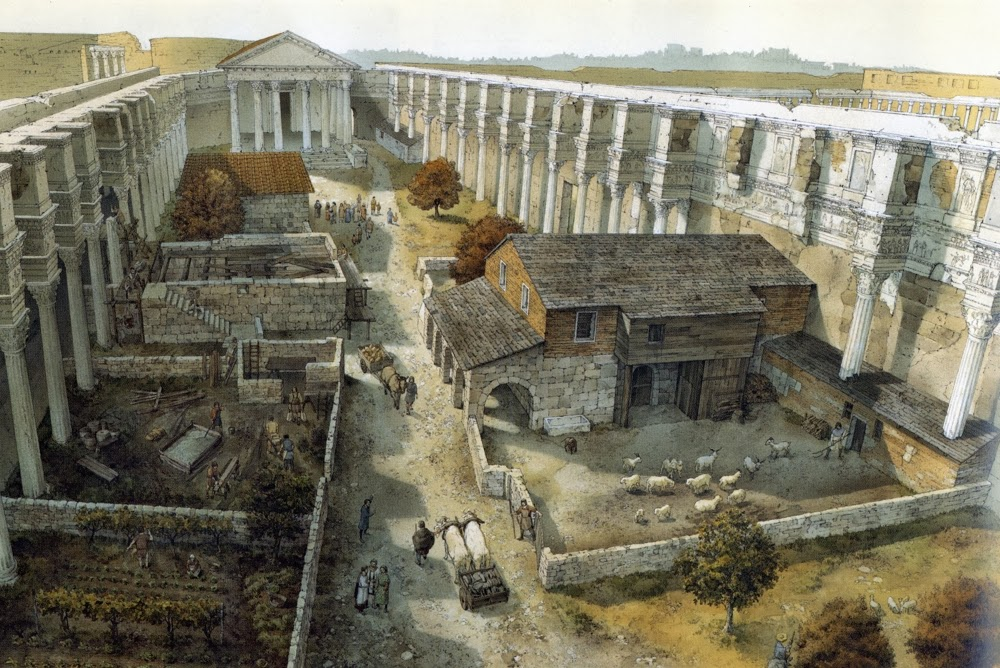 Forum of Nerva in 10th century