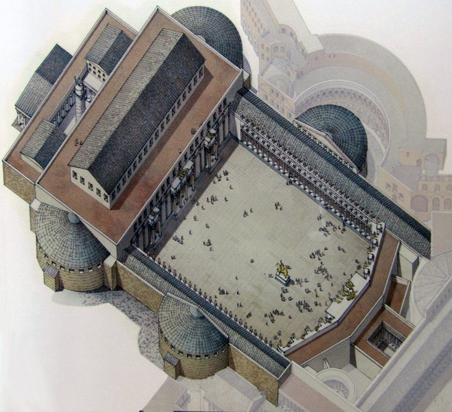 Reconstructive view of the Forum of Trajan