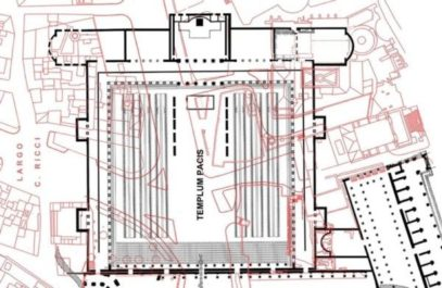 Plan of the Templum Pacis/Forum of the Peace (black)