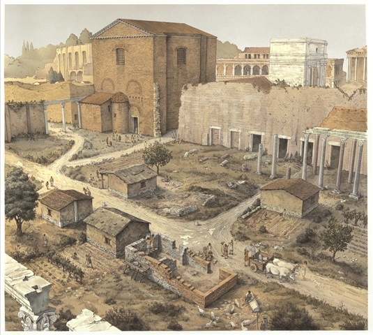 The Forum of Caesar in the 10th century