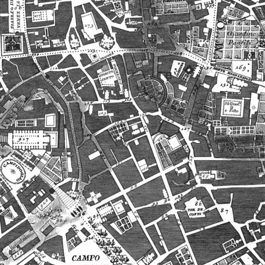 Il Quartiere Alessandrino nella Pianta di Roma di Giovan Battista Nolli (1748)