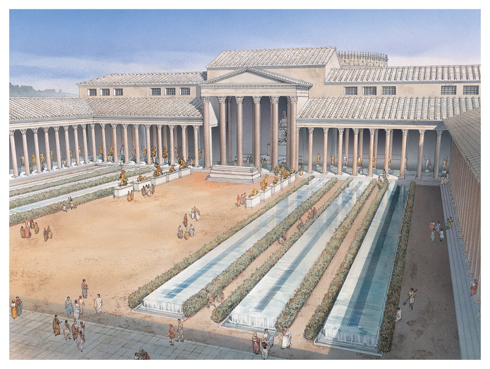 Reconstructive view of the Forum of the Peace