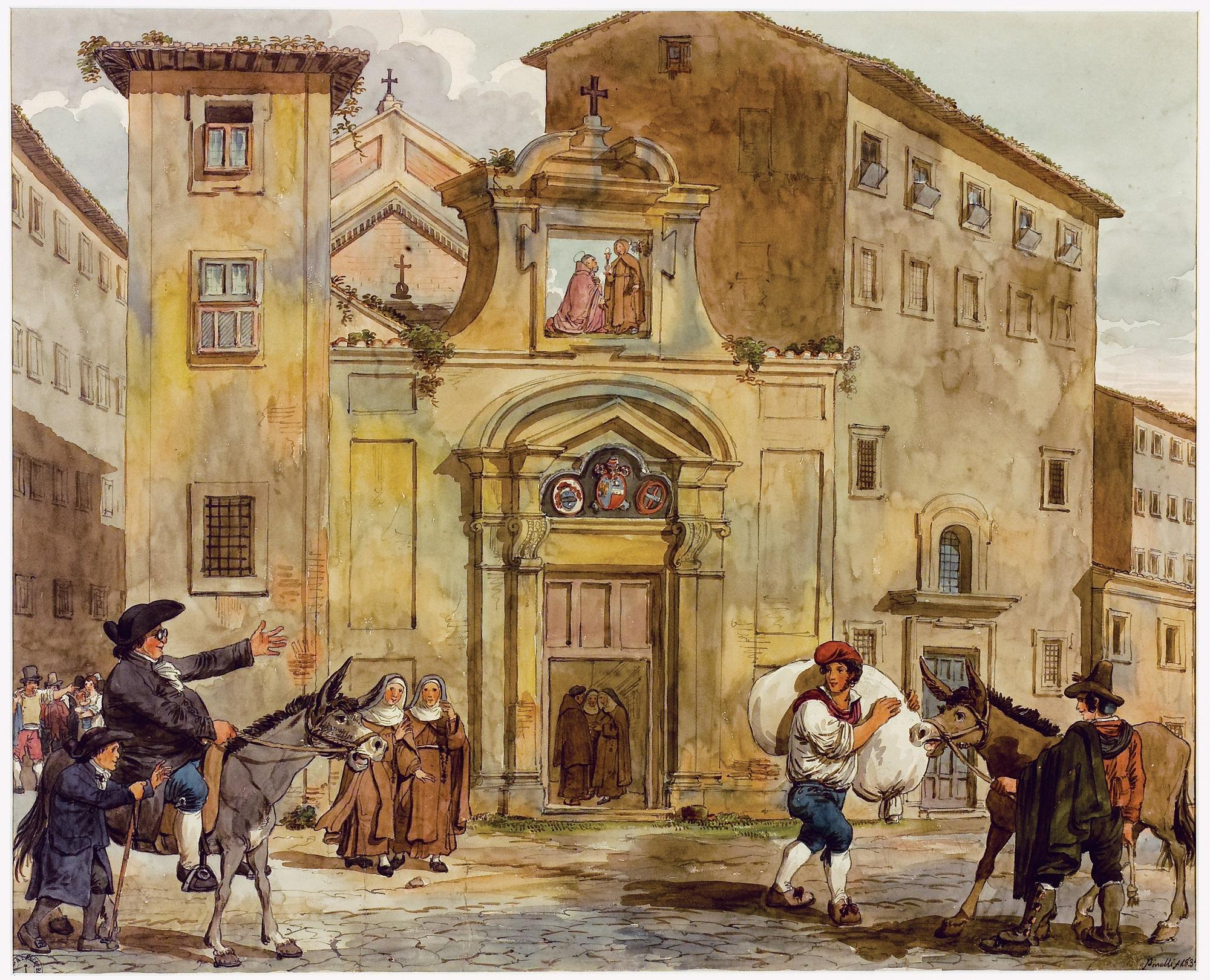 Achille Pinelli, Monastery of Sant'Urbano ai Pantani - 1834 (Roma, Museo di Roma di Palazzo Braschi)