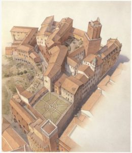 Trajan's Markets in 16th century